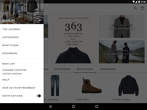 MR PORTER | Luxury Men's Fashion - screenshot