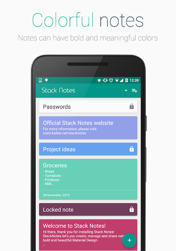 Stack Notes - Material notes