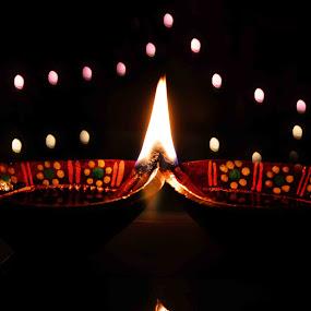 by Ruhi Chanda - Artistic Objects Other Objects ( diwali deepawali lights festival bokeh )