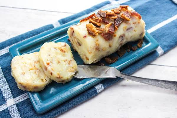 Maple Bacon Butter On A Butter Dish.