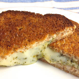 Baked Grilled Cheese Pesto Sandwiches.