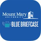 Mount Mary Blue Briefcase