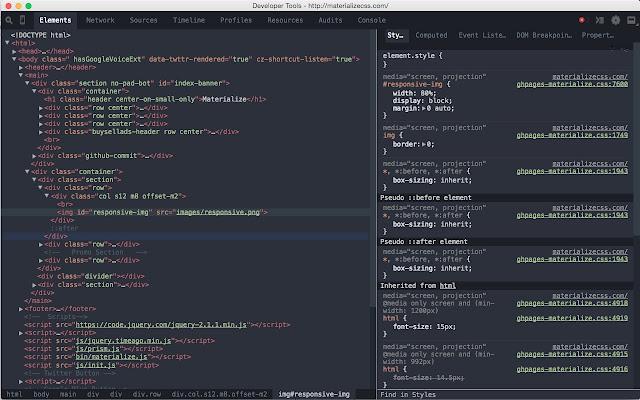 DevTools Theme: Spacegray