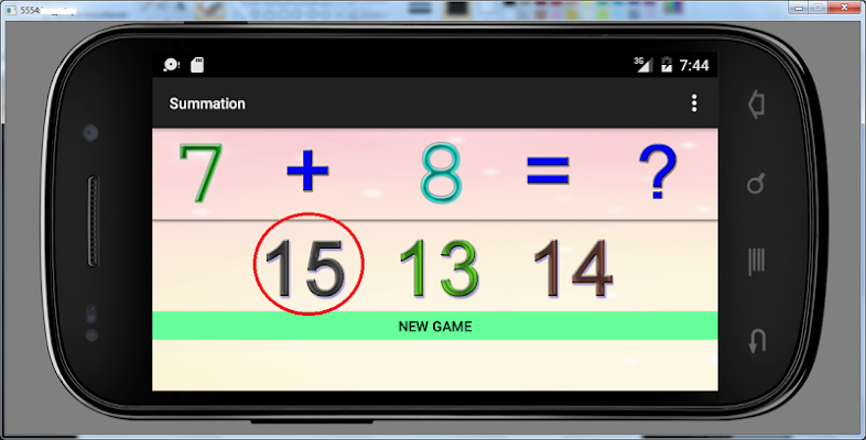 6 years educational games sum - screenshot