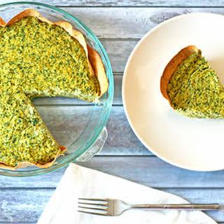 Spinach and Artichoke Quiche.