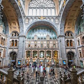 Antwerpen Centraal by Jesús Sánchez Ibáñez - Buildings & Architecture Public & Historical ( station, antwerpen, train, belgium, central, amberes )