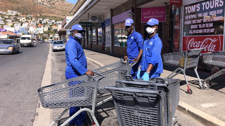 Pick n Pay staff at Fish Hoek in Cape Town.