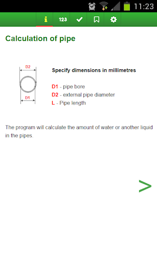 Calculate volume of the pipe