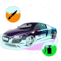 Paint cars icon