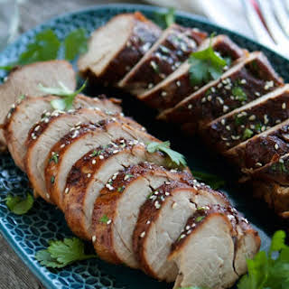 Crockpot Cherry Balsamic Glazed Pork.