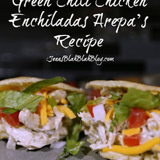 Yummy Green Chili Chicken Enchiladas Arepas