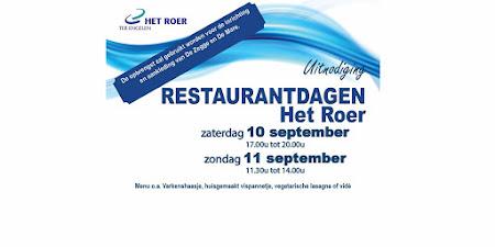 Restaurantdagen Het Roer Hasselt: 10+11 september 2016