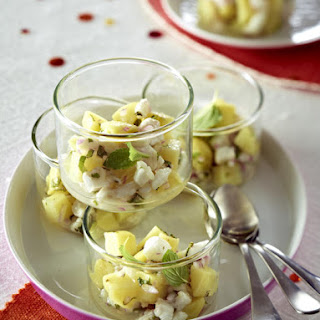 White Fish and Potato Ceviche.