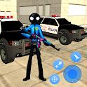 Police Superhero Stickman Rope Hero Gangstar Crime icon