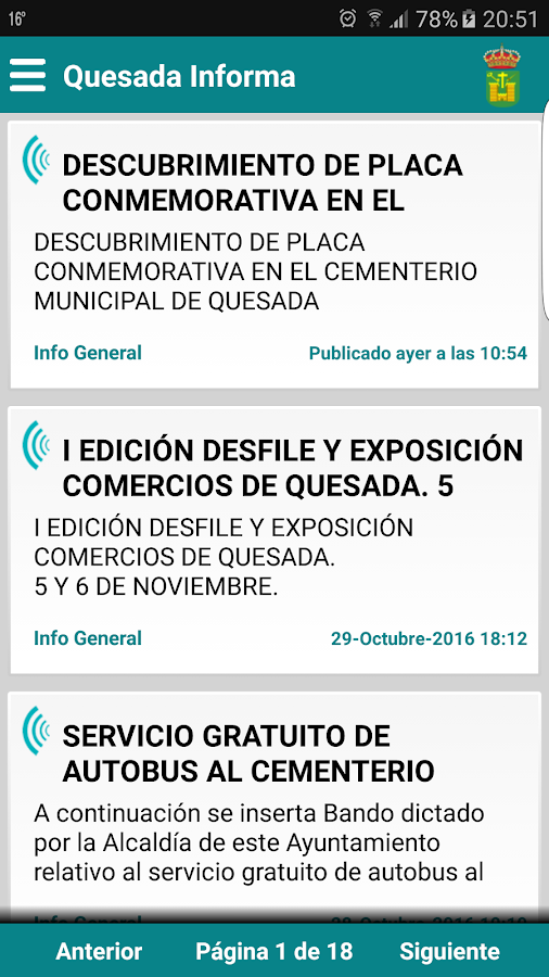 Quesada Informa- screenshot