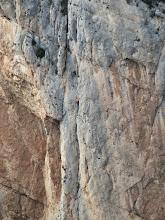 Photo: Escalando en la CADE (Montrebei). Foto tomada desde la Pared de Cataluña.
