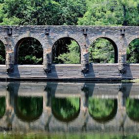Double Vision by Keri Butcher - Novices Only Landscapes ( water, stream, lakes, streams, lake, bridge, bridges )