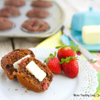 Chocolate Strawberry Morning Muffins