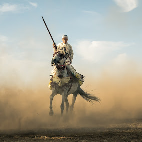 Fantasia Rider by Amine Fassi - News & Events Sports ( fantasia, horse, maghreb, copyright, morocco, people, portrait, fantazia, aminefassi, tradition, dust, africa, maroc,  )