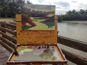 Photo: Painting in progress by Manon Sander 2-13-14