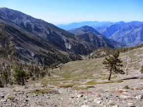 Photo: View southwest from the western flank of Dawson Peak into Fish Fork with Iron Mountain standing above