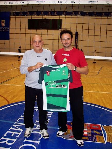 Maestro Piero y alumno Manolo Berenguel.