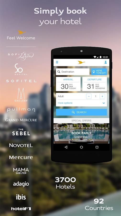 AccorHotels hotel booking - screenshot