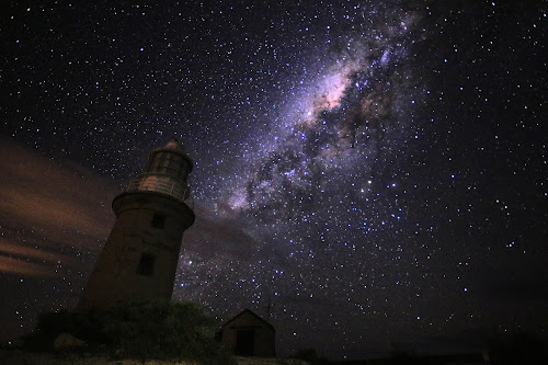 Vlamingh Lighthouse starscape by Clarissa Human - Landscapes Starscapes (  )