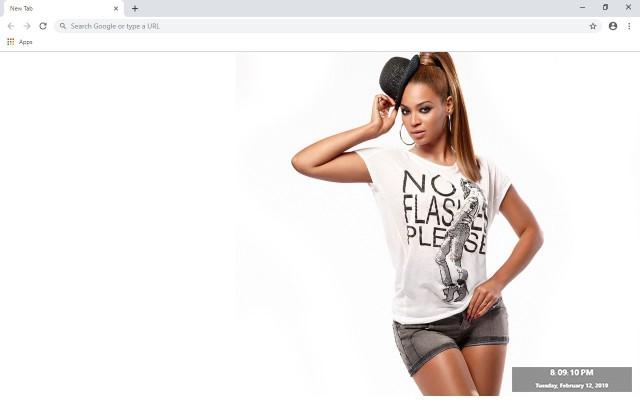 Beyonce Knowles New Tab Theme