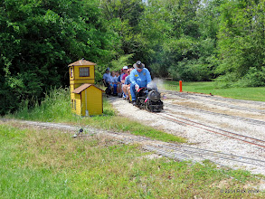 Photo: Engineer Pete Greene enters the siding for water at East Sumrall at 11:57 AM.   HALS Public Run Day 2014-0419 RPW