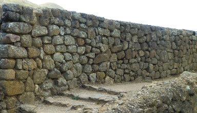 Photo: These walls were built by Cañaris without mortar, with loosely-fitting stones