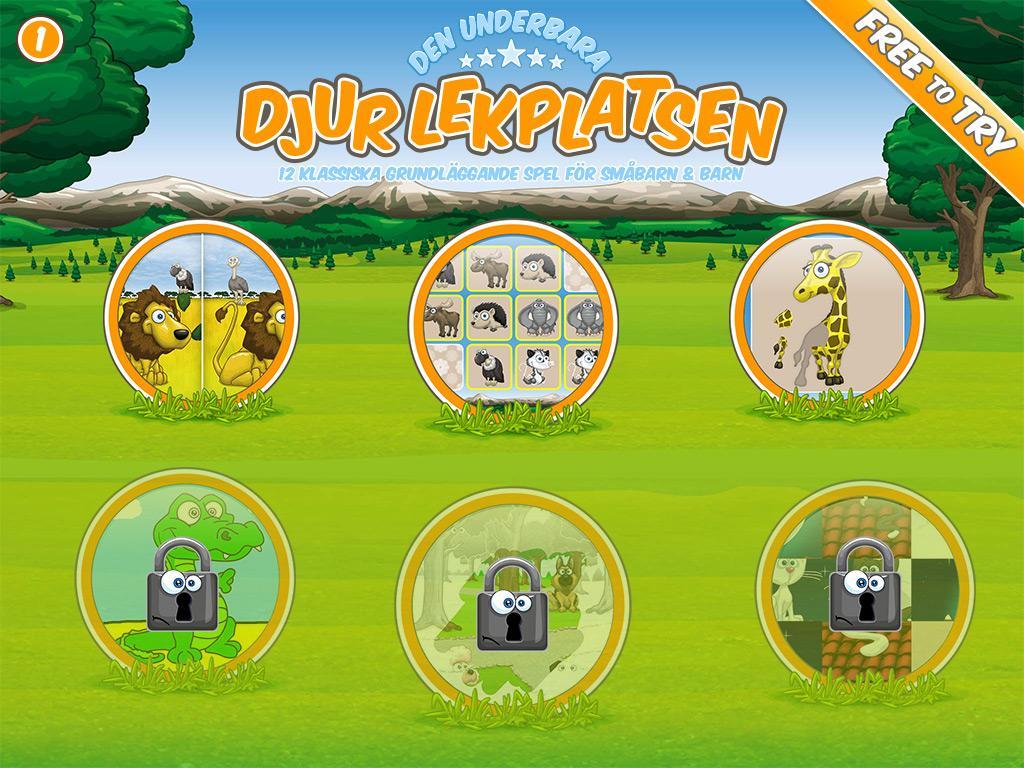 gratis appar för barn djur
