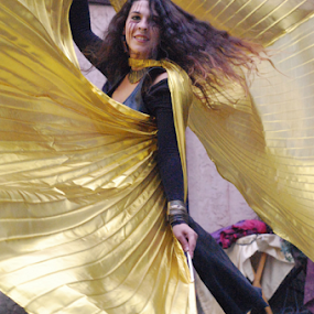 Yellow dancer by Skye Stevens - People Musicians & Entertainers (  )