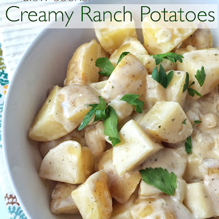 Slow Cooker Creamy Ranch Potatoes.