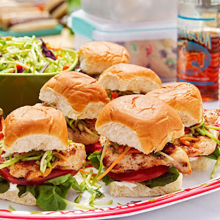 Baja Chicken & Slaw Sliders.