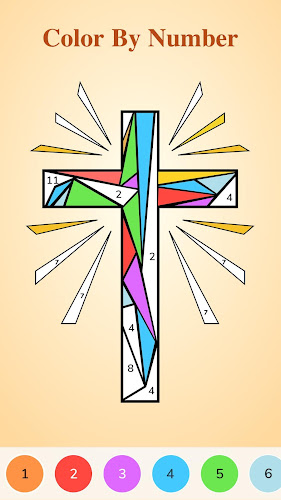 Bible Coloring - Color By Number, Free Bible Game Android App Screenshot