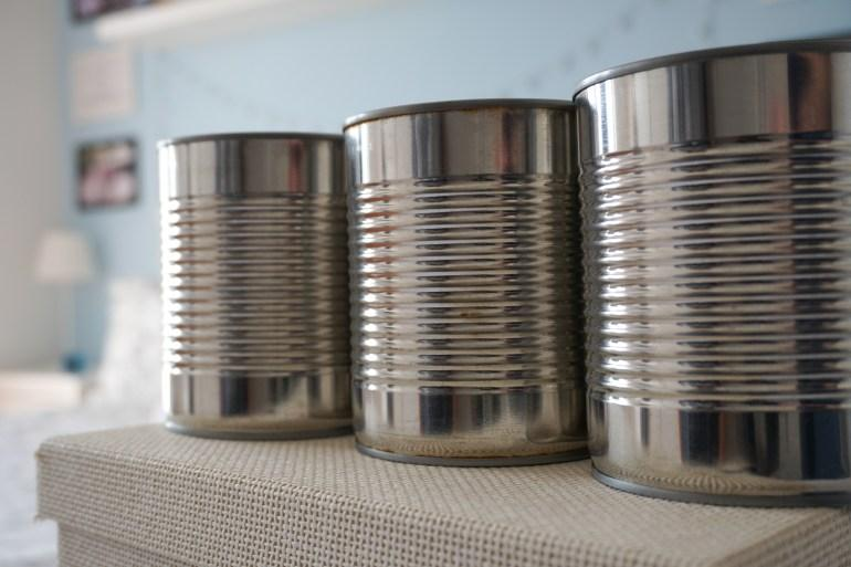 upcycle tin cans