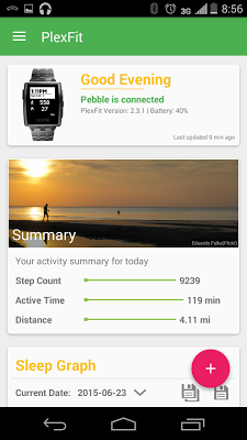 PlexFit for Pebble - screenshot