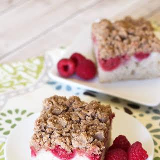 Gluten Free Vegan Raspberry Coffee Cake.