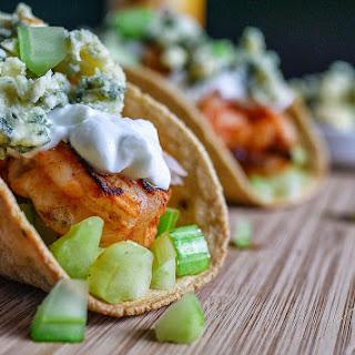 Buffalo Shrimp Tacos.