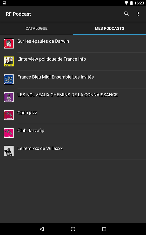 Radio France Podcast- screenshot