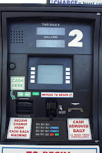 Photo: Please note the Burger King PUSH TO ORDER button in the middle of the gas pump. America!