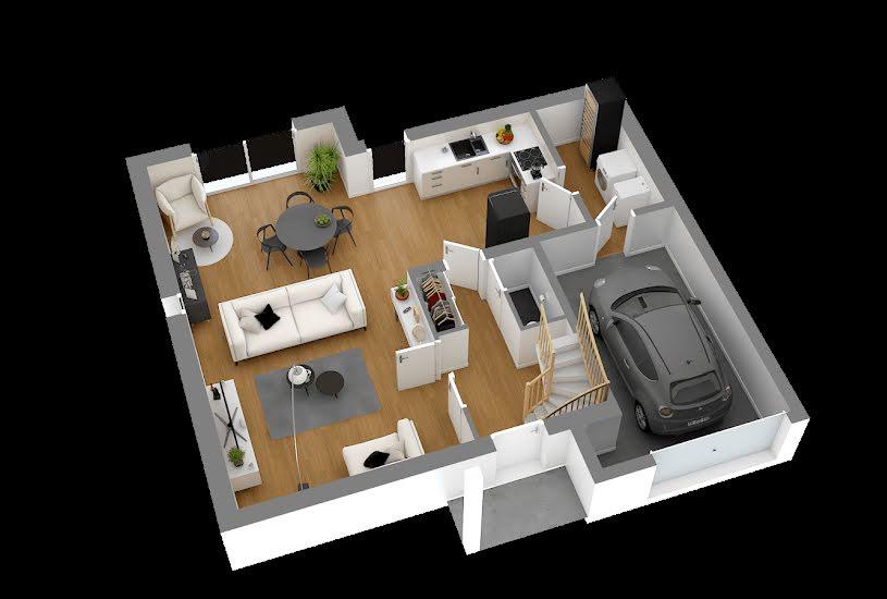Vente Terrain + Maison - Terrain : 455m² - Maison : 112m² à Porcheville (78440)