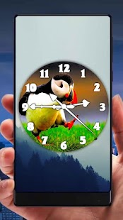 Bird Analog Clock Live Wallpaper - náhled