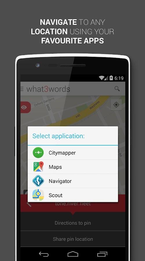 what3words - screenshot