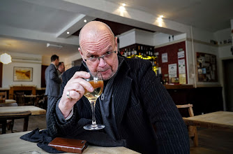 Photo: TV & Radio broarcaster James Whale at The Harrison Pub. Cheers!