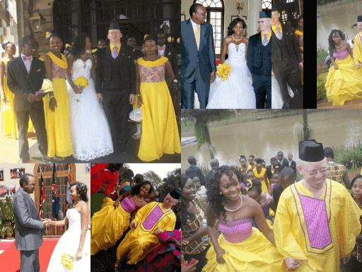 Isaac Mwaura's wedding