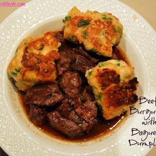 Beef Burgundy with Baguette Dumplings