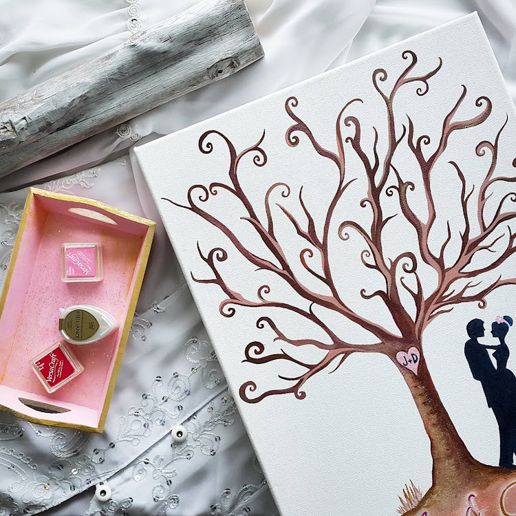 Personalized Our Wedding Tree Guestbook Set