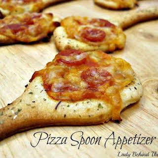 Pizza Spoon Appetizer.